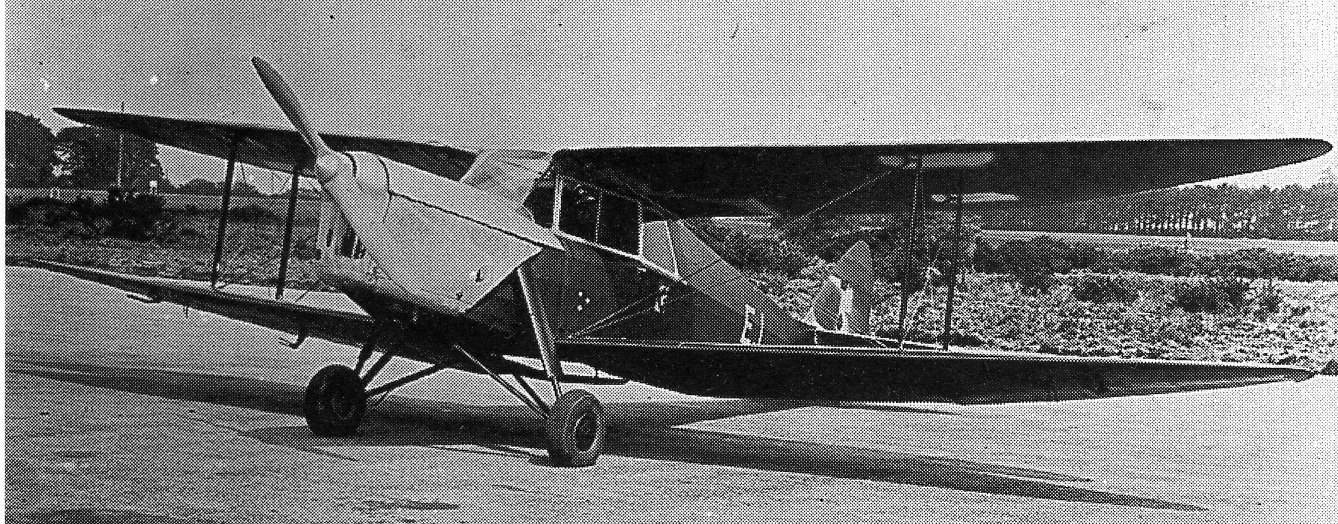 Sneum escaped Denmark in a  de Havilland DH87B Hornet Moth.